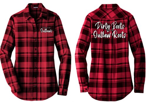Ladies World of Outlaws Flannel