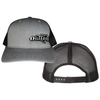 Offset Grey and Black Hat