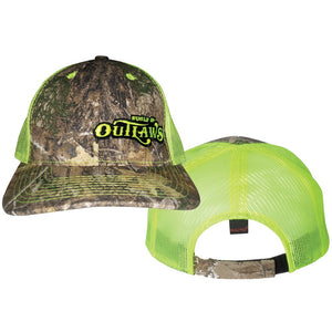Mossy Oak & Neon Yellow Hat