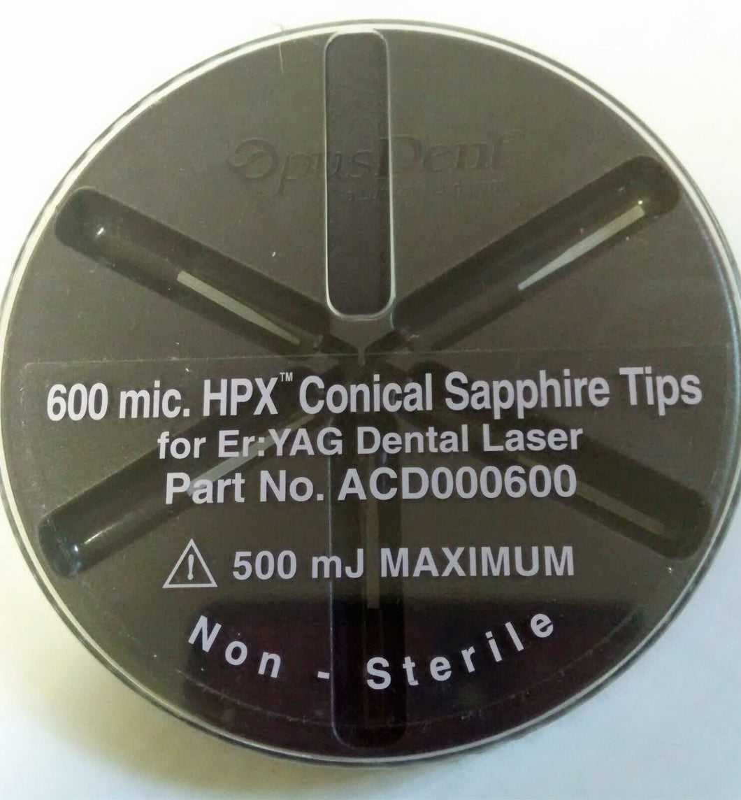 600 mic. HPX Conical Sapphire Opus Duo Dental Laser Tips