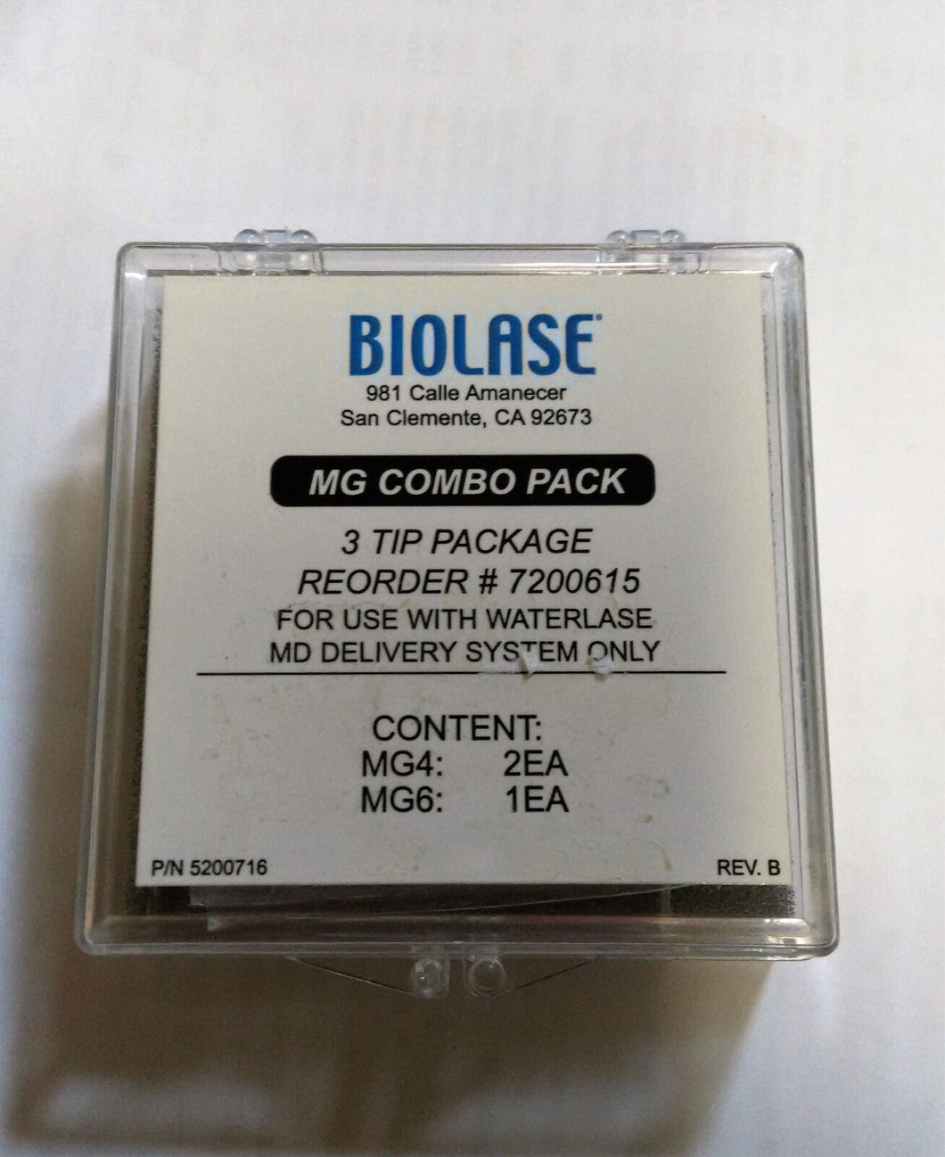 Biolase MG Combo Pack Fits WaterlaseMD, or iPlus Dental Laser