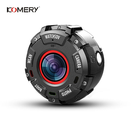 KOMERY Mini Sport Action Camera HD1080P WiFi Waterproof 30M DV 5 pcs wide-angle lenses Night Version Shooting Smart Watch Camera