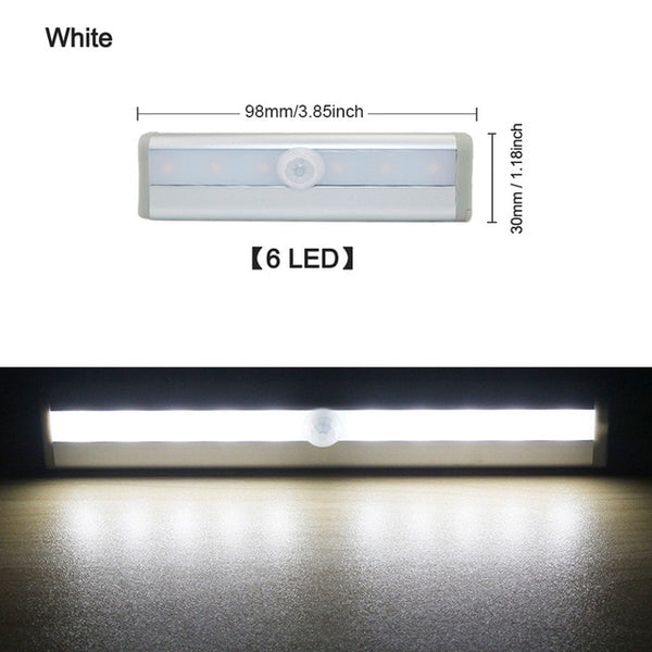 LEDs  Cupboard Wardrobe Bed Lamp LED Under Cabinet Night Light For Closet Stairs Kitchen
