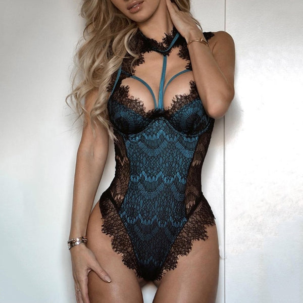 Porno Sexy Lingerie Women Bodysuit Lace Catsuit Hot Erotic Female Bandage Underwear G-string Babydoll Sleepwear Teddies