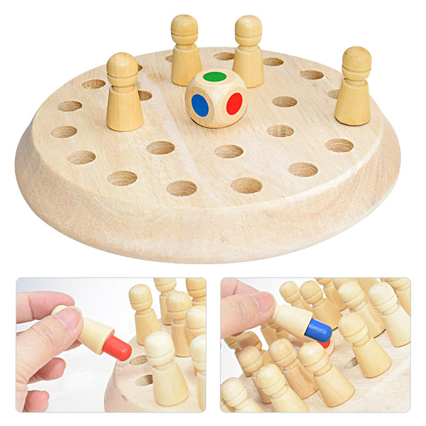 Wooden Memory Match Stick Chess Game Fun Block Board Game Educational Color Cognitive Ability Toys For Children Kids Gift