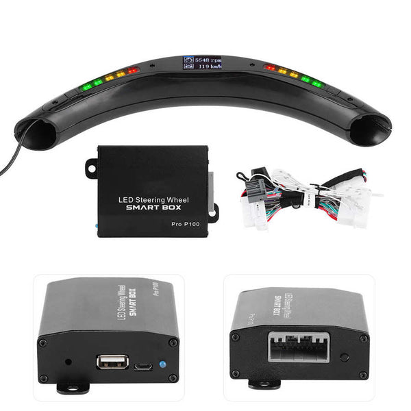3rd Gen LED Performance Steering Wheel Race Digital Display Shift Indicator Lights OBD2 Module Kits Universal