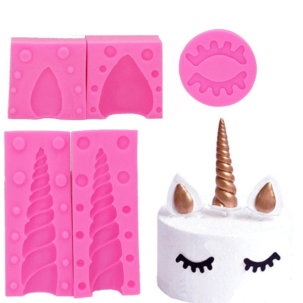 Unicorn Animalsl Silicone Mold Sugarcraft Fondant Mould Cake Decorating Tools Chocolate Gumpaste Kitchen Gadgets T1180