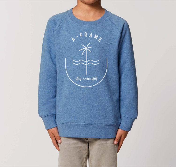 Kids Pulli - Stay Connected - Meeresblau