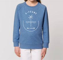 Lade das Bild in den Galerie-Viewer, Kids Pulli - Stay Connected - Meeresblau
