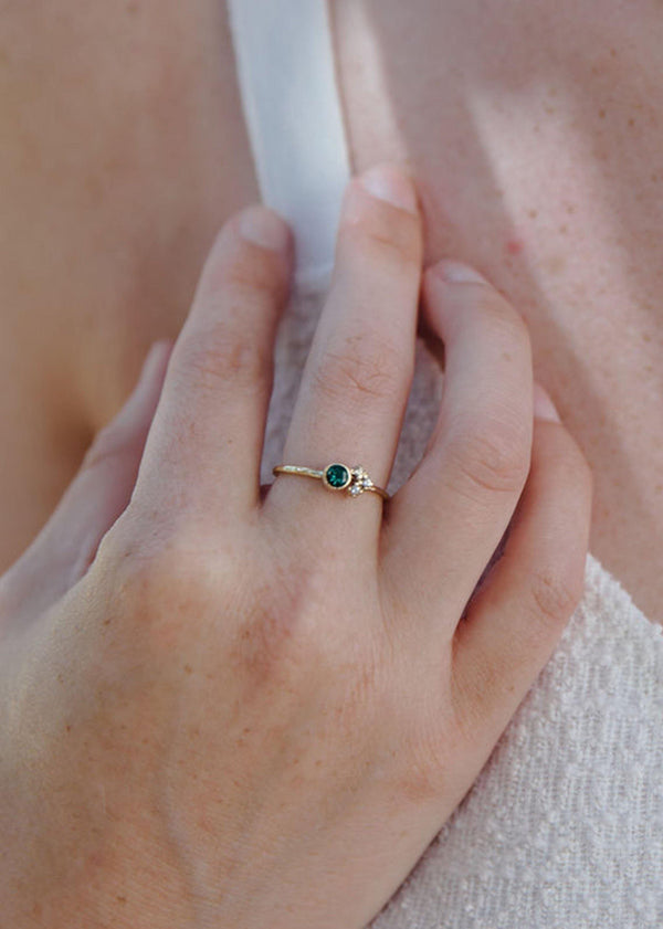 Emerald Cluster Ring - Emily Warden Designs Site