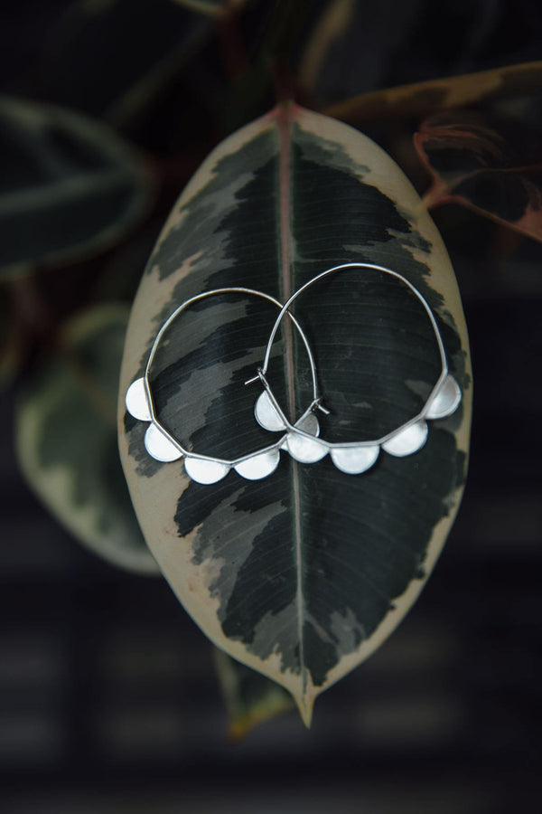 Scalloped Hoops - Emily Warden Designs Site