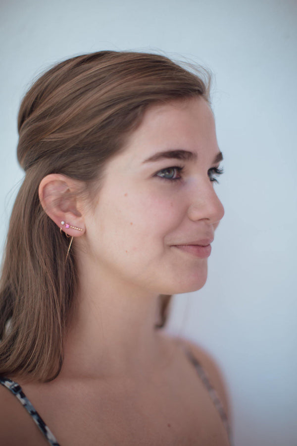 Opal Hugger Hoops - Emily Warden Designs Site