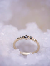 Black Diamond Honeycomb Ring