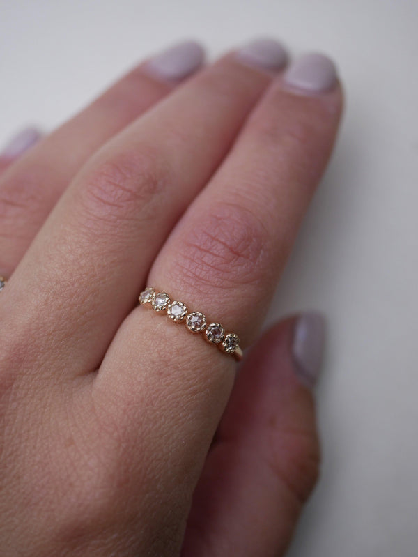 Rose White Diamond Band - Emily Warden Designs