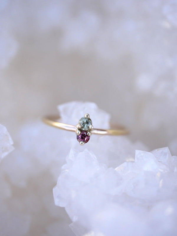 Watermelon Twin Gem Ring - Emily Warden Designs