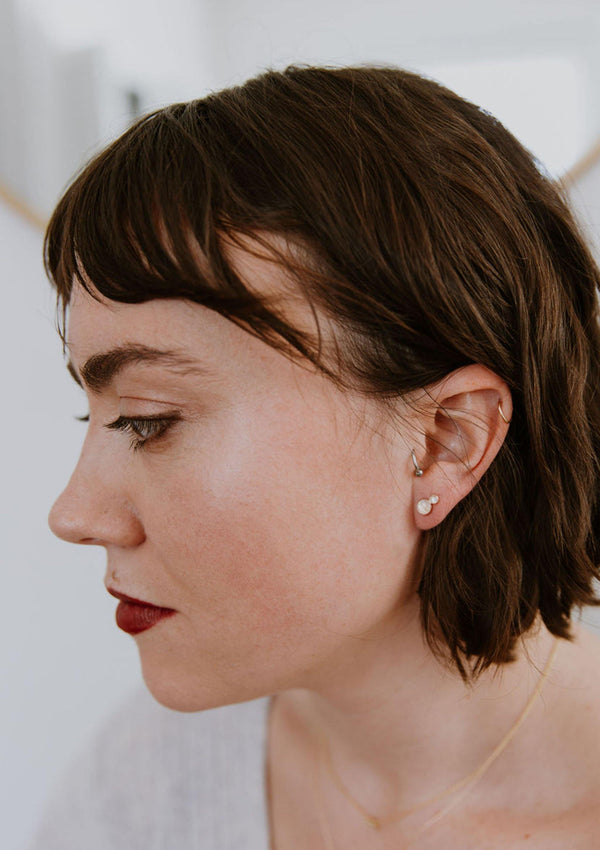 Double Moonstone Studs - Emily Warden Designs Site