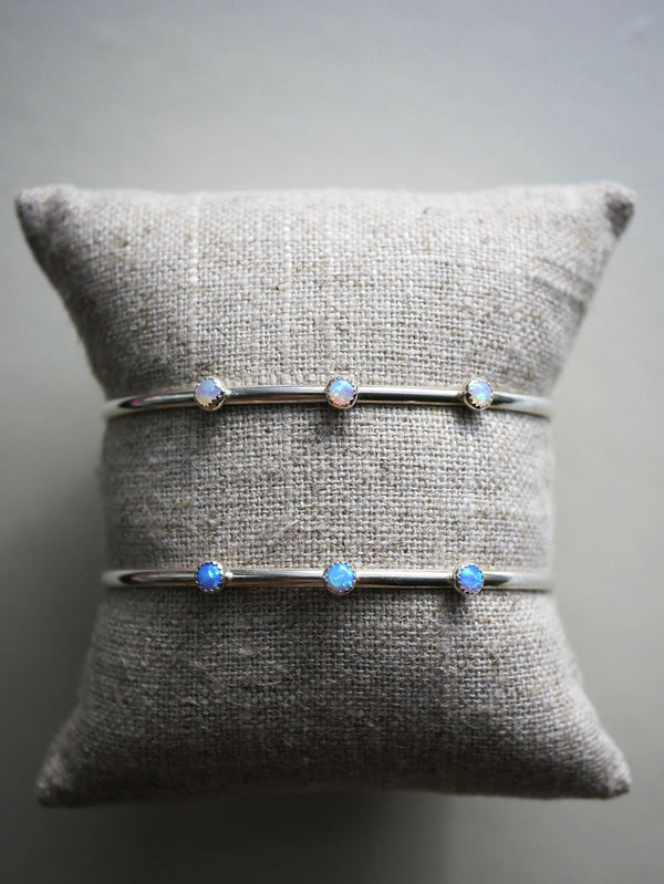 Triple Opal Bangle - Emily Warden Designs Site