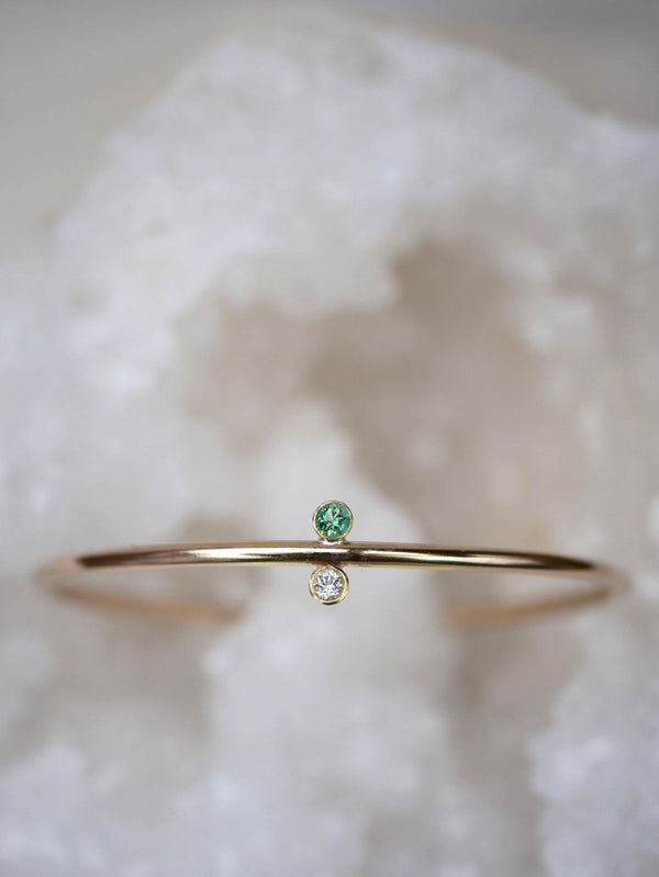Emerald Sapphire Bangle - Emily Warden Designs Site