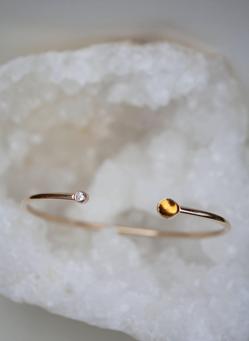 Citrine and Sapphire Cuff - Emily Warden Designs Site