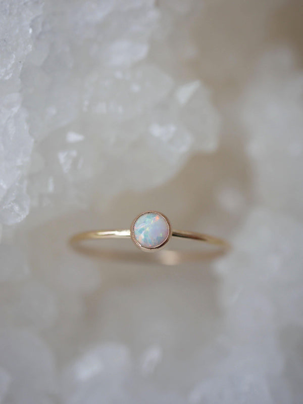 White Opal Dainty Stack - Emily Warden Designs Site