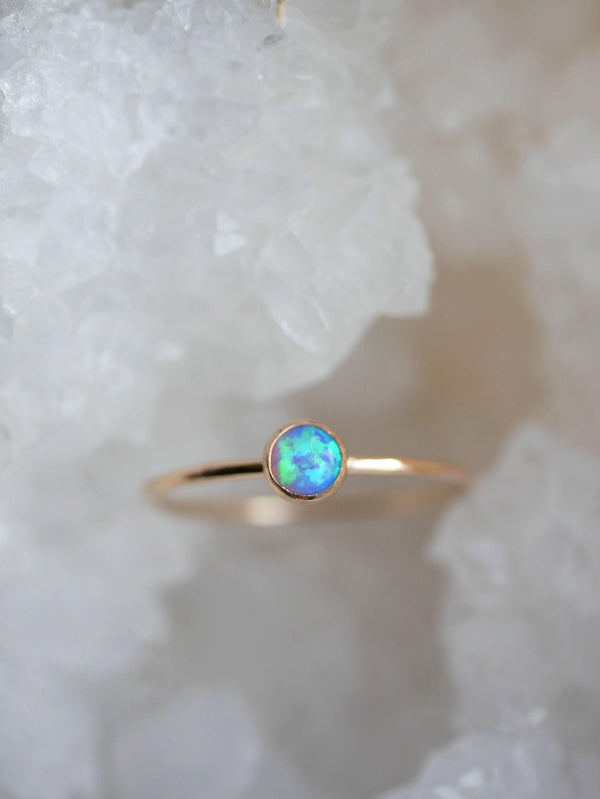 Blue Opal Dainty Stack - Emily Warden Designs Site