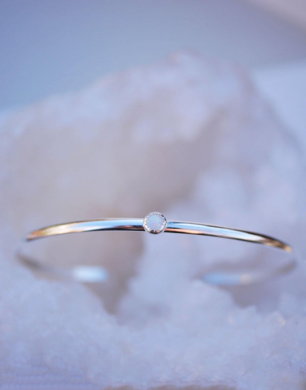 Single Opal Bangle - Emily Warden Designs Site