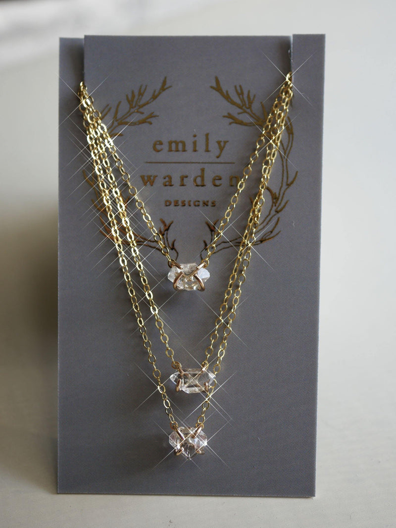 Herkimer Diamond Necklace - Emily Warden Designs Site