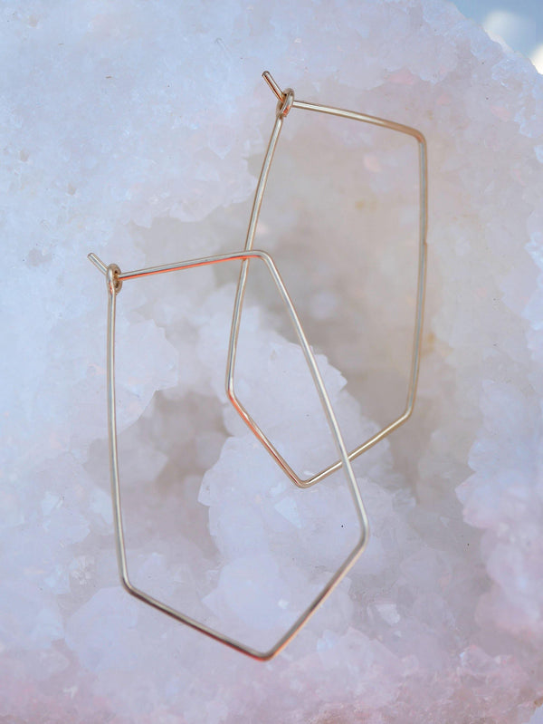 Hammered Triangle Hoops - Emily Warden Designs