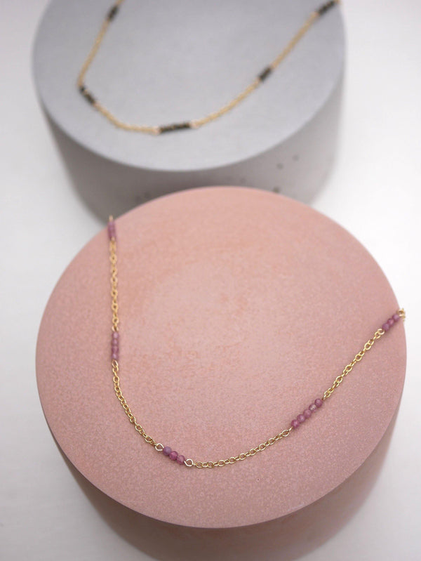 Beaded Tourmaline Layering Chain - Emily Warden Designs Site