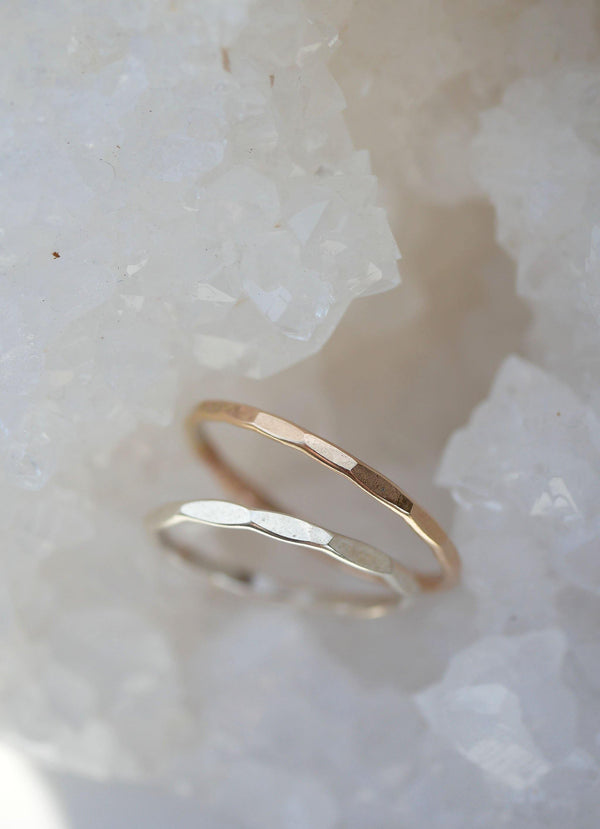 Hammered Stack Ring - Emily Warden Designs Site