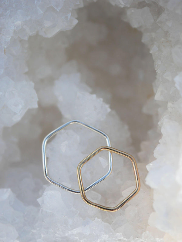 Hexagon Stack Ring - Emily Warden Designs Site