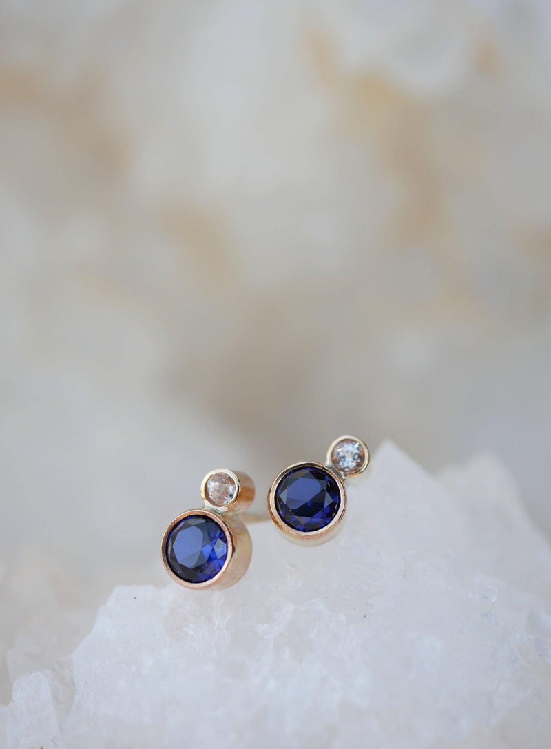 Tanzanite Duo Studs - Emily Warden Designs Site