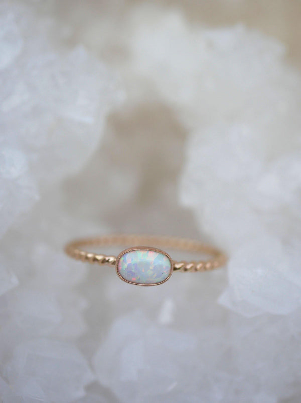 Oval Opal Twist Stack - Emily Warden Designs Site