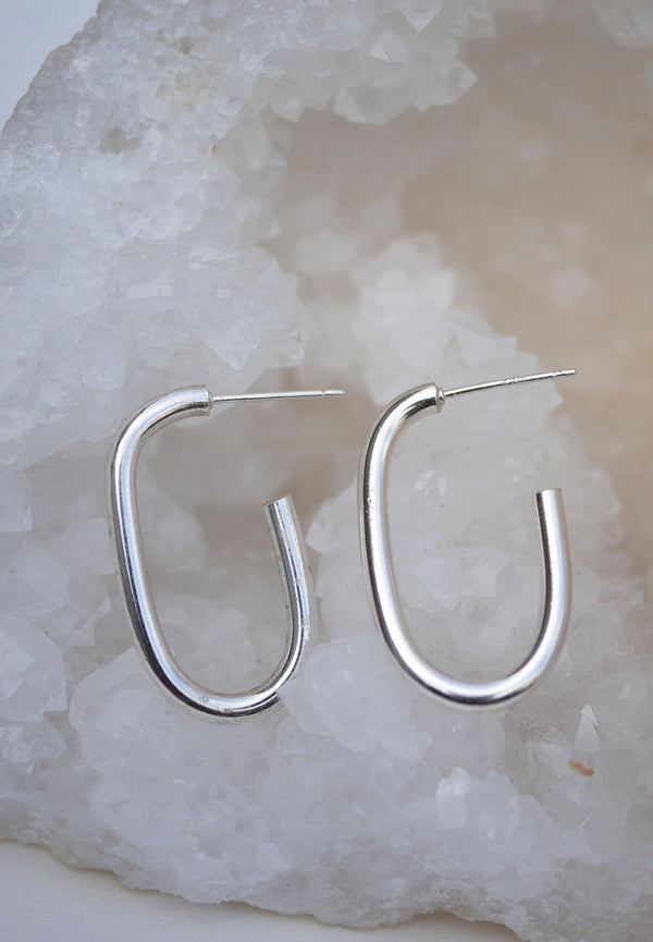 Open Horseshoe Hoops - Emily Warden Designs Site