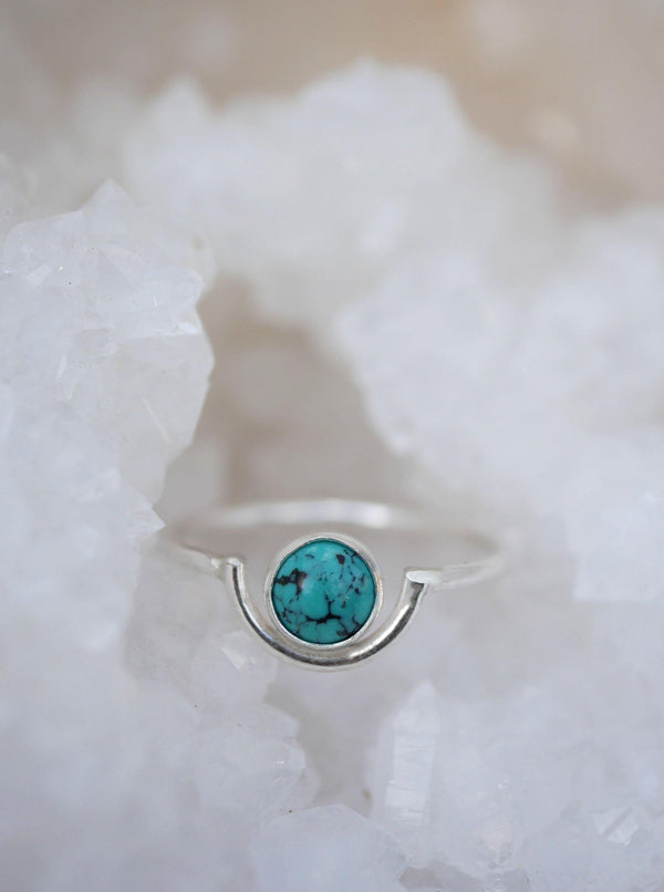 Turquoise Arc Ring - Emily Warden Designs Site