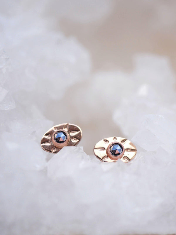Salt & Pepper Eye Studs - Emily Warden Designs Site