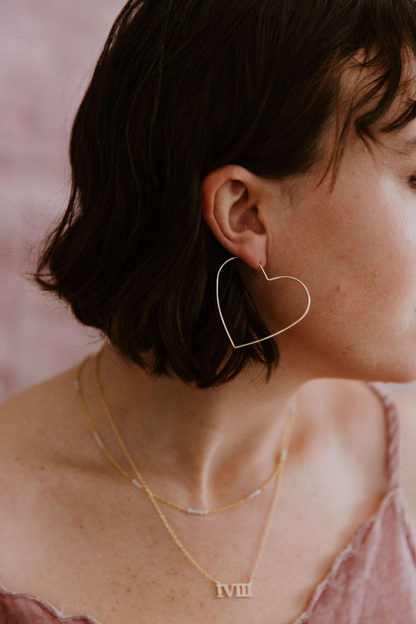 Hammered Heart Hoops - Emily Warden Designs Site