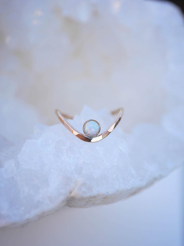 Opal Contour Ring - Emily Warden Designs Site