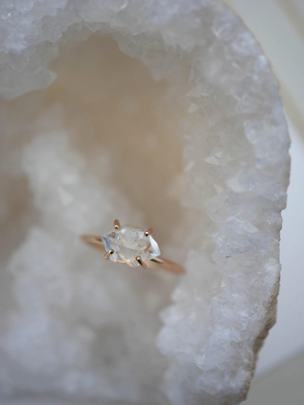 Herkimer Diamond Ring - Emily Warden Designs Site