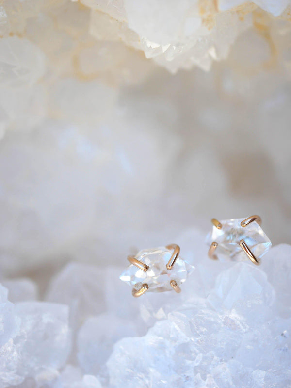 Herkimer Diamond Studs - Emily Warden Designs Site