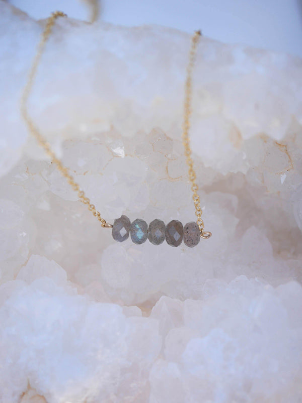 Beaded Labradorite Necklace - Emily Warden Designs Site