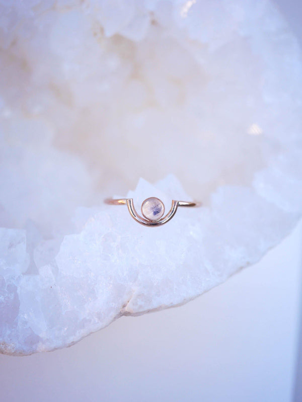 Moonstone Arc Ring - Emily Warden Designs Site