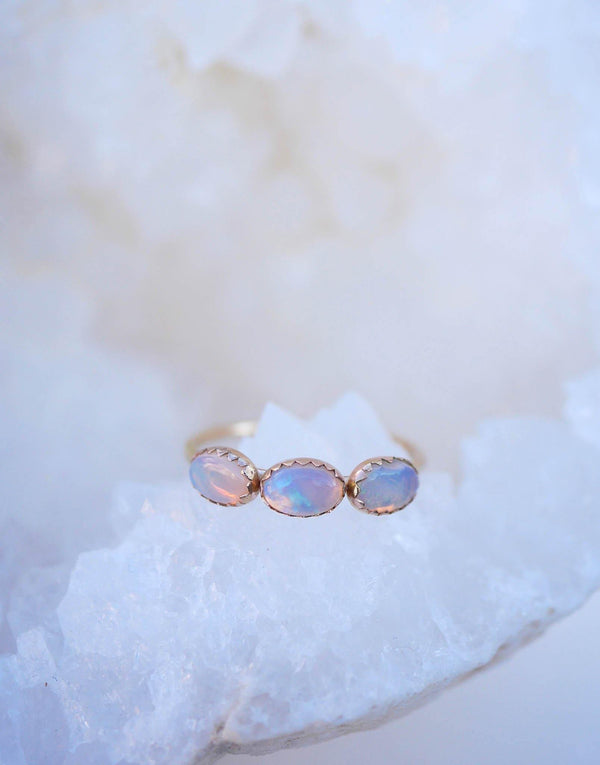 Opal Halo Ring - Emily Warden Designs Site