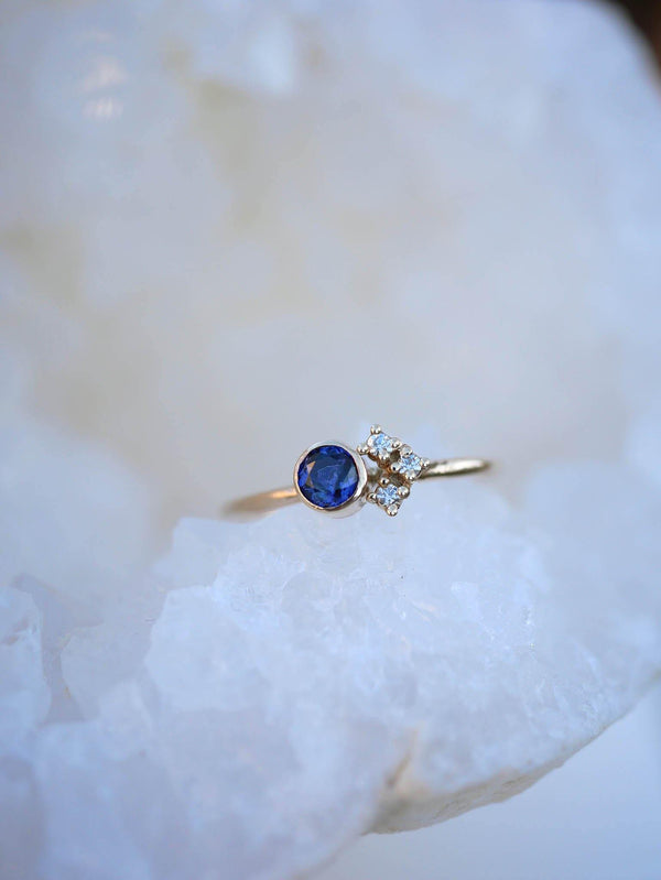Tanzanite Cluster Ring - Emily Warden Designs Site