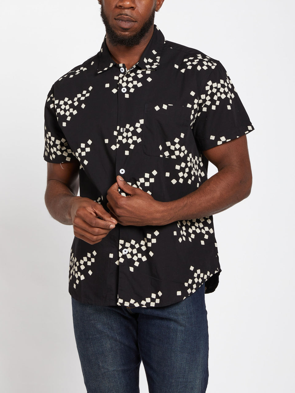 OBEY_GLAZED_WOVEN_SHIRT_BLACK_MULTI
