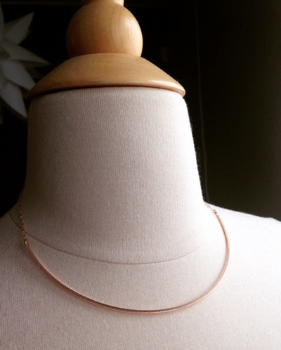 Squared Half Collar Necklace