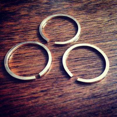 Open Band Stacking Ring - Squared