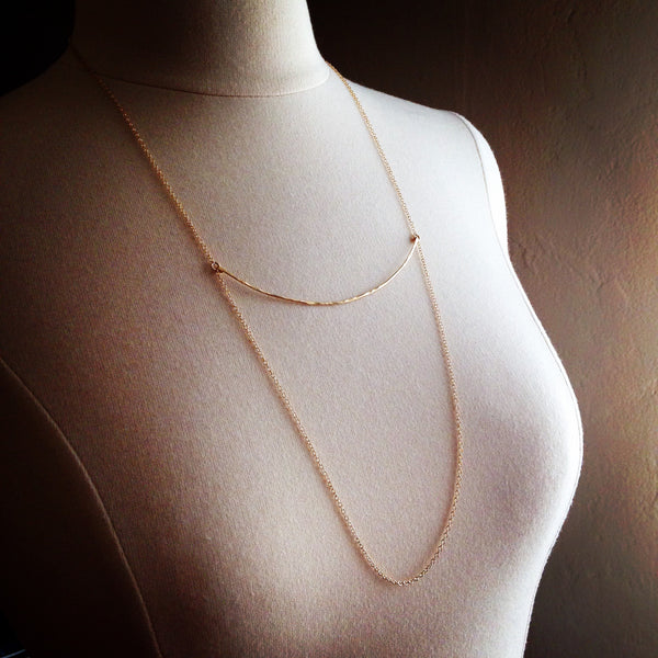Hammered Arc Necklace