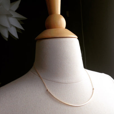 Squared Arced Necklace - Large