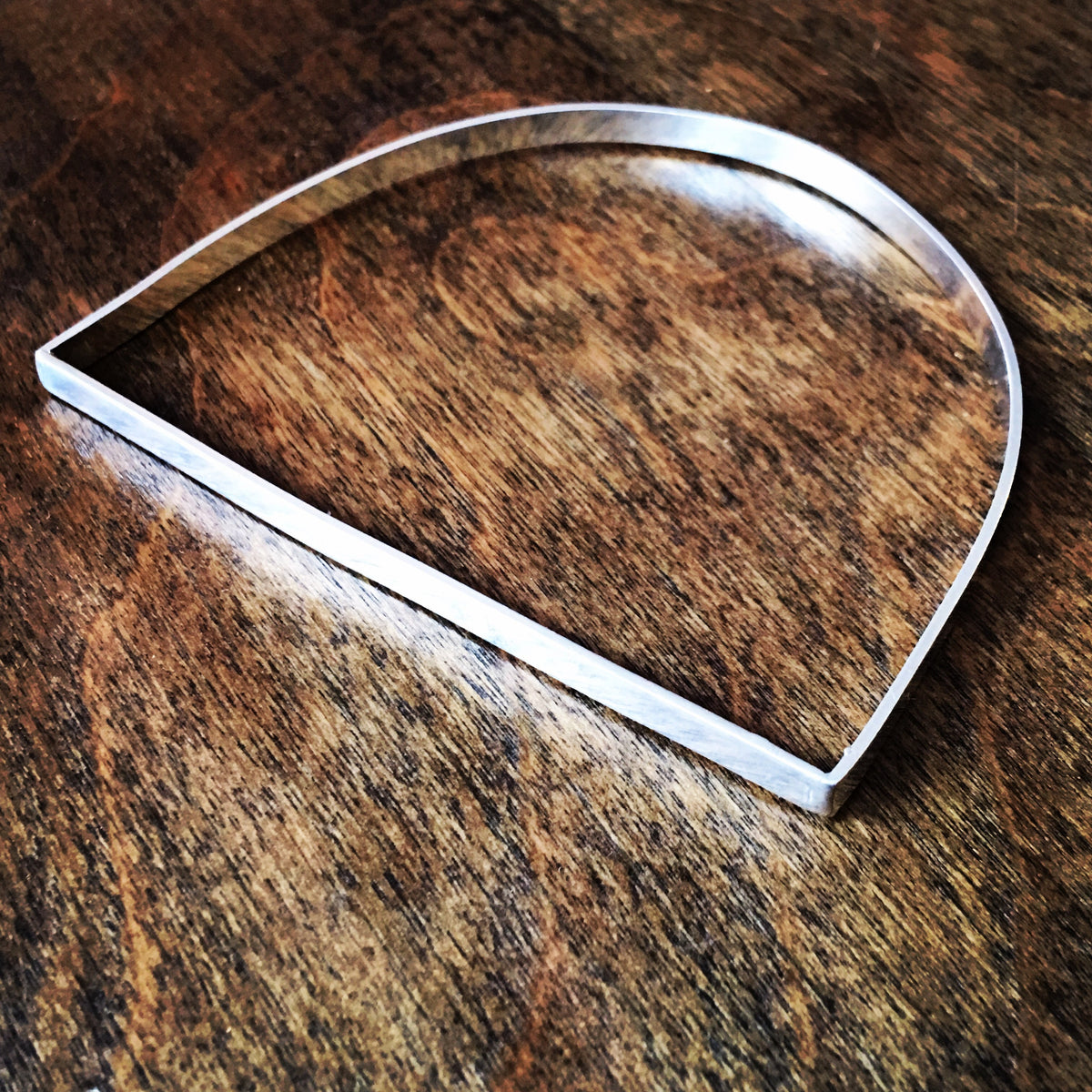 Large Arch Bangle in Sterling Silver